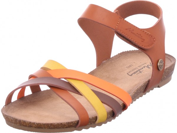 Mustang Damen Sandale Sandalette Sommerschuhe braun 5057801-376