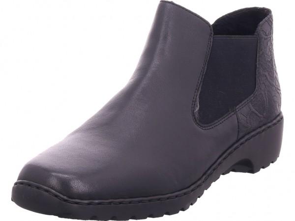 Rieker L609003 L60 Damen Stiefel Stiefelette Boots elegant schwarz L6090-03