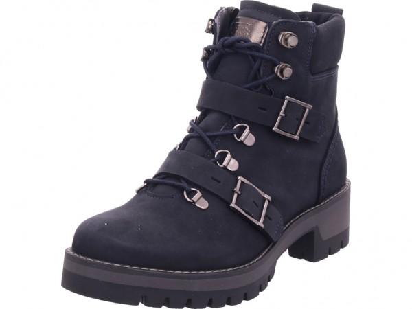 Camel Active Diamond Damen Stiefel Schnürer Boots Stiefelette zum schnüren blau 891.73.02