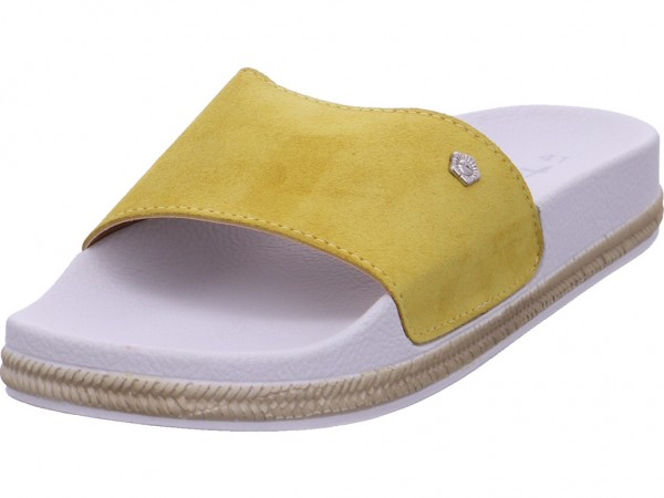 Tamaris Da.-Pantolette Damen Pantolette Sandalen Hausschuhe Clogs Slipper gelb 1-1-27112-20/602-602