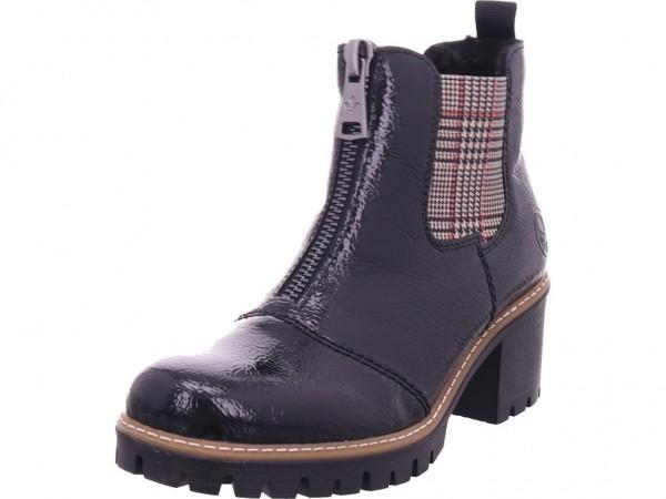 Rieker Damen Winter Stiefel Boots Stiefelette warm zum schlüpfen schwarz Y8651-01