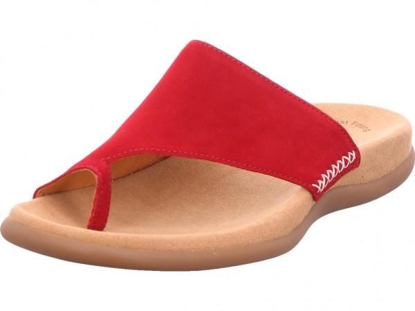 Gabor Damen Pantolette Sandalen Hausschuhe Clogs Slipper rot 43.700.15