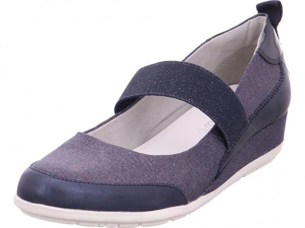 s.Oliver Da.-Slipper Damen Sandale Sandalette Sommerschuhe blau 5-5-24620-20/891-891