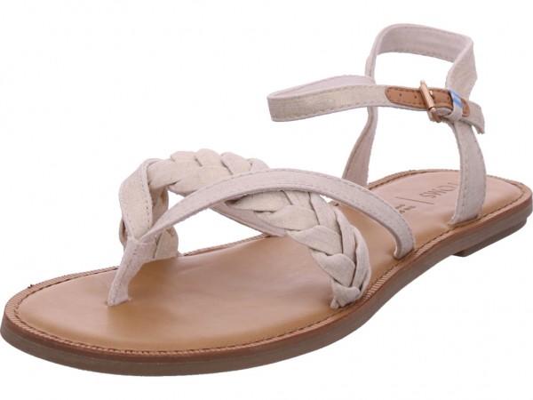 TOMS Damen Sandale Sandalette Sommerschuhe beige 10013455