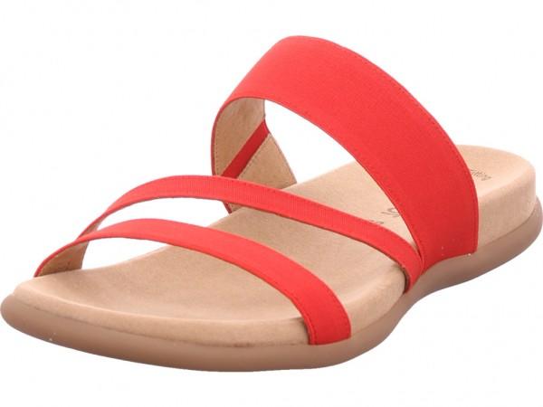 Gabor Damen Pantolette Sandalen Hausschuhe Clogs Slipper rot 43.702.85