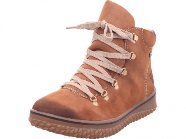 Rieker Damen Winter Stiefel Boots Stiefelette warm Schnürer braun Z4233-24
