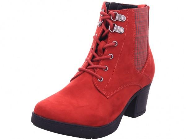 Jana Woms Boots Damen Stiefel Schnürer Boots Stiefelette zum schnüren rot 8-8-25269-25/555-555