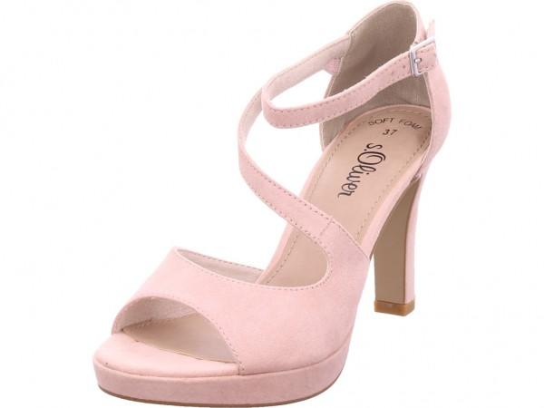 s.Oliver Woms Sandals Damen Sandale Sandalette Sommerschuhe rot 5-5-28323-22/544-544