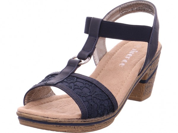 firence Sandl.ab50 gl.B.Abs Damen Sandale Sandalette Sommerschuhe blau 4820510