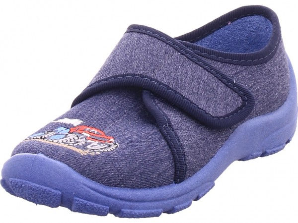 fischer Jungen Hausschuh blau 501890 555