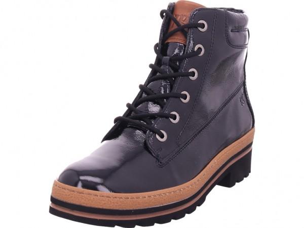 paul green Damen Winter Stiefel Boots Stiefelette warm Schnürer schwarz 9783-037