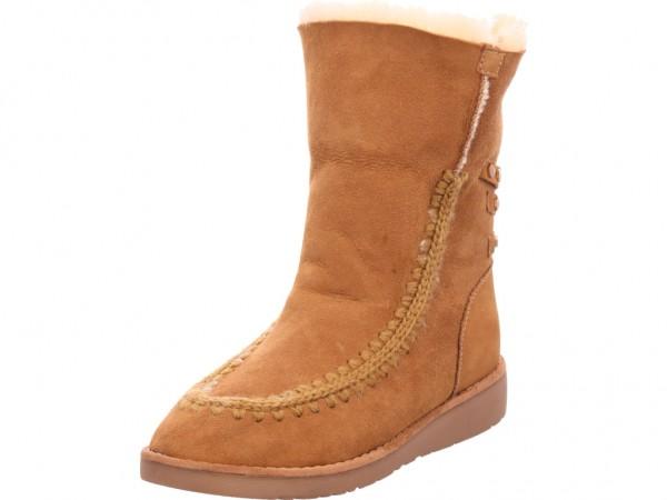 Sunshine Melissa Damen Stiefel Schnürstiefel warm sportlich Boots braun SH19-3044-01
