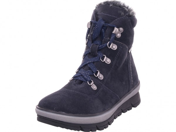 Jana Woms Boots Damen Winter Stiefel Boots Stiefelette warm Schnürer blau 8-8-26230-23/805-805