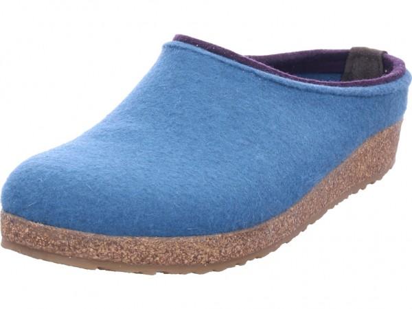 Haflinger Grizzly Kris Damen Pantolette Sandalen Hausschuhe blau 71105693