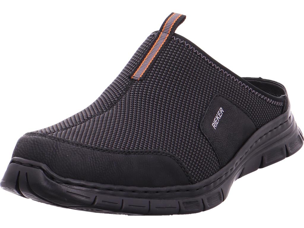 Rieker Herren Pantolette Sandalen Hausschuhe Clogs Slipper schwarz B4859 01