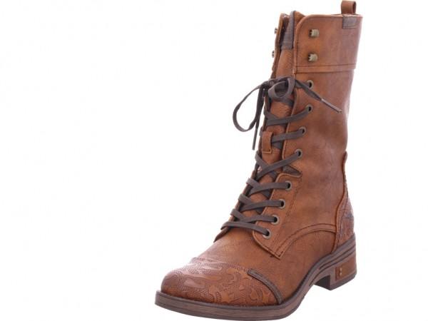 Mustang Damen Winter Stiefel Boots Stiefelette warm Schnürer braun 1293510-307