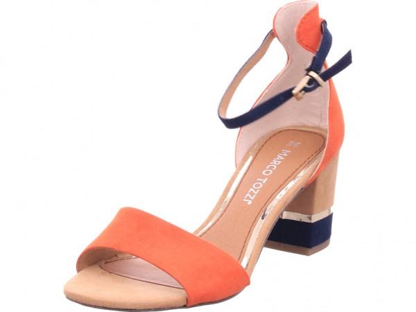 Marco Tozzi Damen Sandale Sandalette Sommerschuhe rot 22-28303-34-626