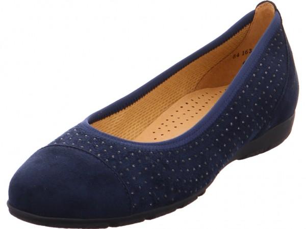 Gabor Damen Pumps flach Ballerina blau 84.163.46