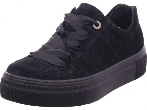 Legero Lima,SCHWARZ (SCHWARZ) Damen Halbschuh Sneaker Sport Schnürer zum schnüren schwarz 5-00910-00