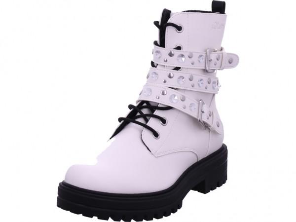 s.Oliver Damen Stiefelette Damen Stiefel Schnürer Boots Stiefelette zum schnüren weiß 5-5-25236-25/100-100