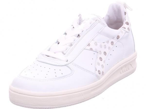 Besondere Damen Schuhe weiß Mundart Sneaker Leder