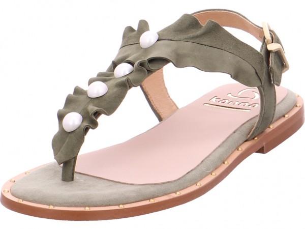 kanna Damen Sandale Sandalette Sommerschuhe grün KV8333
