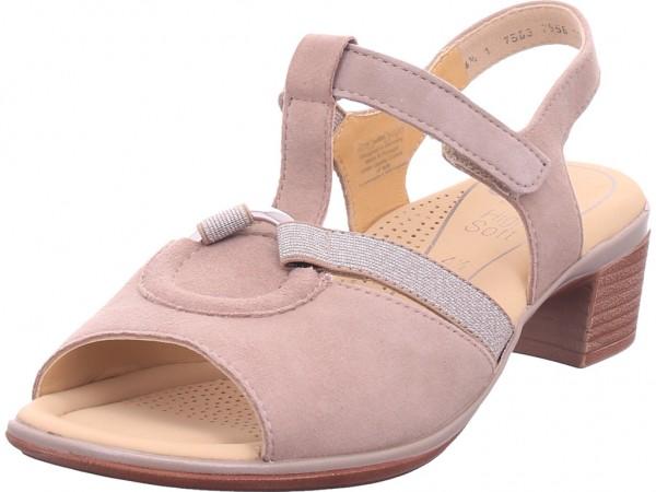 ara LUGANO Damen Sandale Sandalette Sommerschuhe sand-taupe 12-35736-10