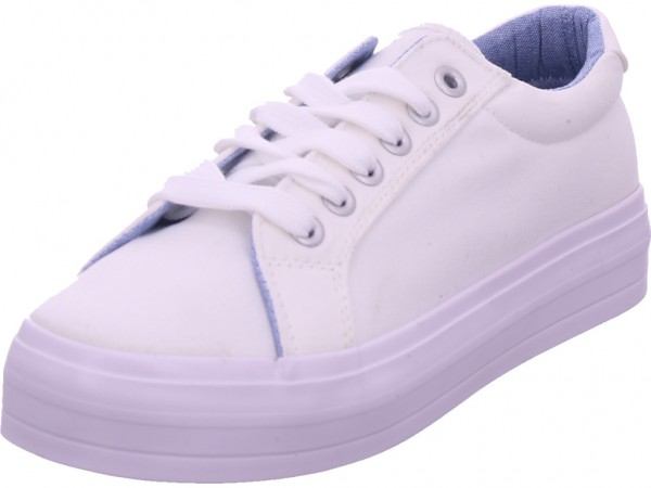 Jane Klain Damen Leinen Sneaker Damen Textilschuhe weiß 832638000/107