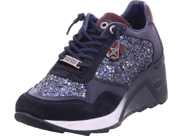 Cetti Damen Sneaker blau C-1143-SRA