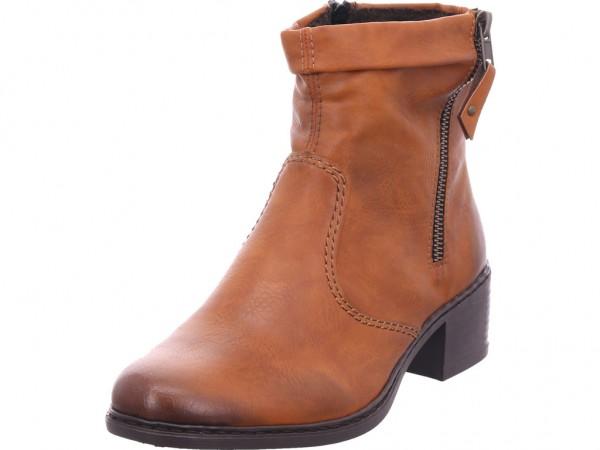 Rieker 7767224 776 Damen Winter Stiefel Boots Stiefelette warm zum schlüpfen braun 77672-24