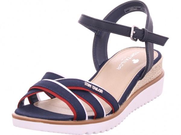 Tom Tailor Damen Sandale Sandalette Sommerschuhe blau 8092903