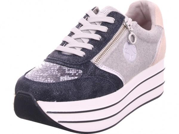s.Oliver ch. à lacets Damen Sneaker blau 5-5-23621-23/891-891