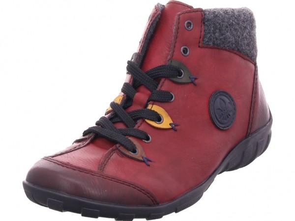 Rieker L651335 L65 Damen Winter Stiefel Boots Stiefelette warm Schnürer rot L6513-35