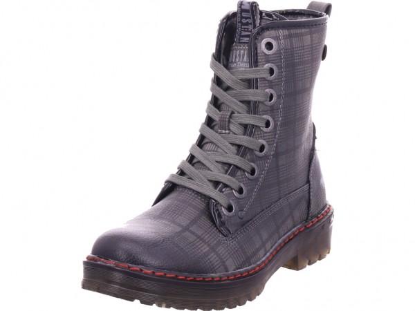 Mustang Damen Winter Stiefel Boots Stiefelette warm Schnürer grau 1235505-20