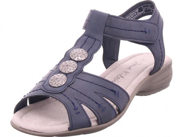 Jane Klain Sandalen glatter Boden bis 50 Damen Sandale Sandalette Sommerschuhe blau 282204000/805