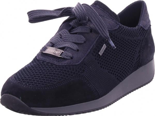 ara LISSABON Damen Halbschuh Sneaker Sport Schnürer zum schnüren blau 12-44063-02
