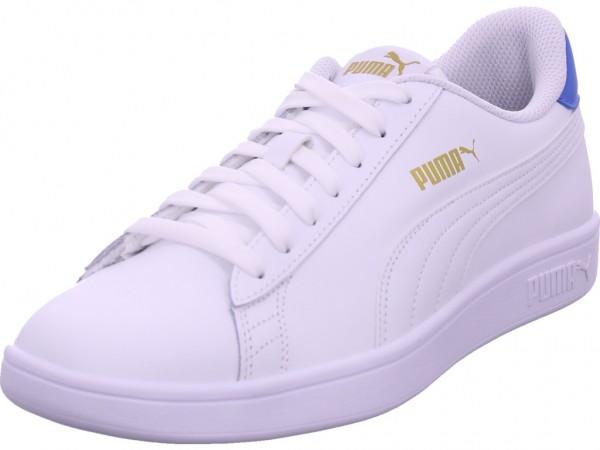 Puma Smash v2 Herren Schnürschuh Halbschuh sportlich Sneaker weiß 365215