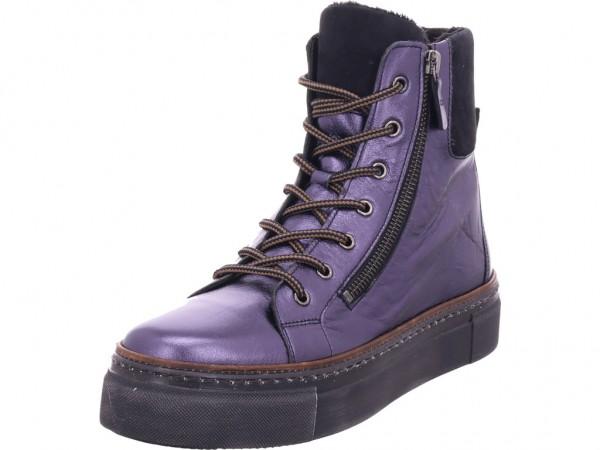 Gabor Damen Winter Stiefel Boots Stiefelette warm Schnürer blau 33.741.86