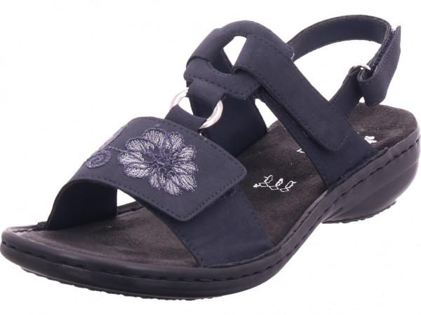 Rieker Damen Sandale Sandalette Sommerschuhe blau 608D3-14
