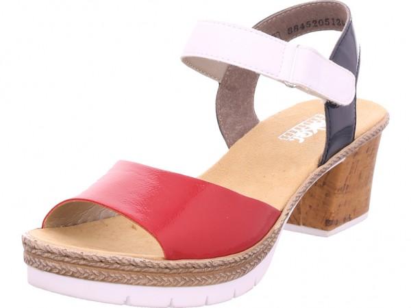 Rieker Damen Sandale Sandalette Sommerschuhe rot V2953-33