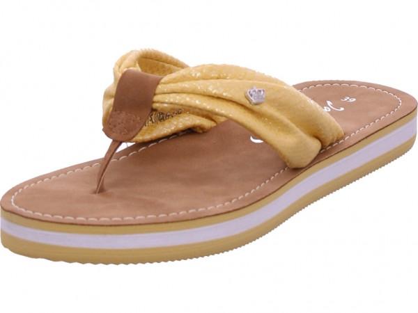 Jane Klain Damen Pantolette Sandalen Hausschuhe Clogs Slipper gelb 271436000/607