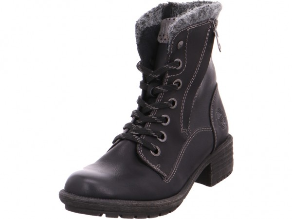Marco Tozzi Da.-Stiefel Winter Stiefel Boots Stiefelette warm Schnürer schwarz 2-2-25210-25/096-096