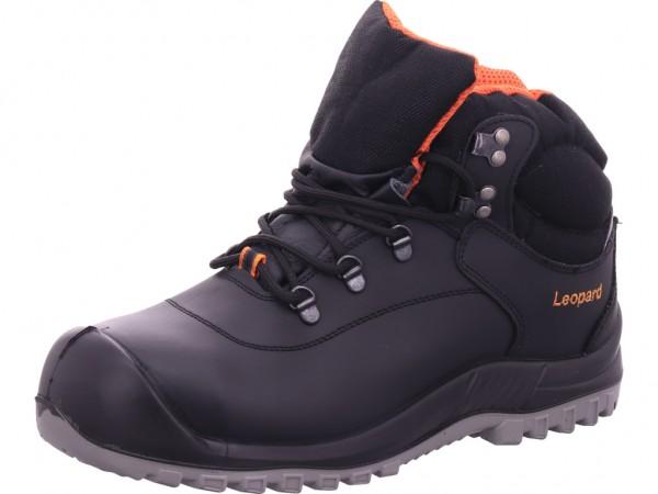 Leopard Knöchelstiefel S3 Unisex - Erwachsene Arbeitsschuhe Sicherheitsschuhe schwarz 12450
