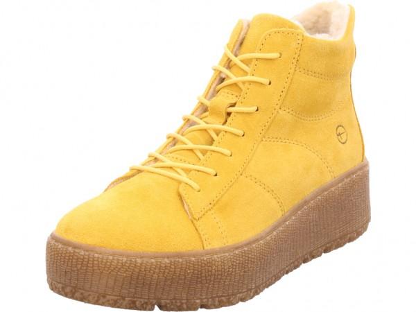 Tamaris Da.-Stiefel Damen Winter Stiefel Boots Stiefelette warm Schnürer gelb 1-1-26096-23/627-627