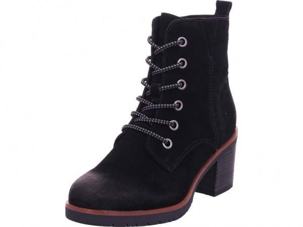Marco Tozzi Damen Stiefelette Damen Stiefel Schnürer Boots Stiefelette zum schnüren schwarz 2-2-25202-25/001-001