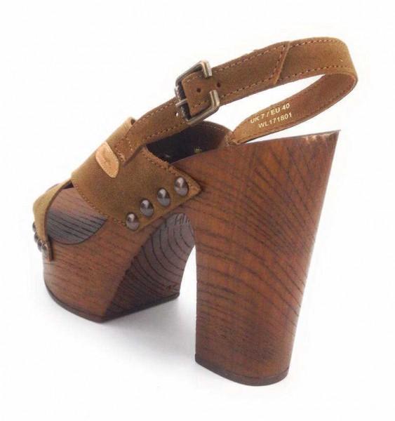 wrangler NV Damen Sandale Sandalette Sommerschuhe braun WL171801/66