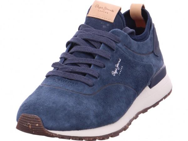 Pepe Jeans Herren Schnürschuh Halbschuh sportlich Sneaker blau 30406 595