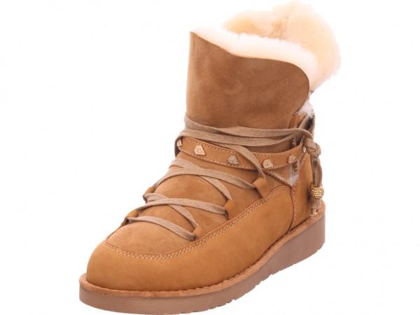Sunshine Mari Damen Stiefel Schnürstiefel warm sportlich Boots braun SH19-3033