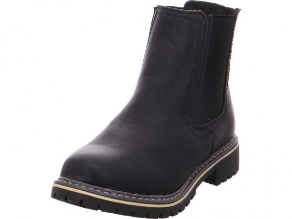 Quick-Schuh Schlupf/RV-St.Sp-Bod Damen Stiefel Stiefelette Boots elegant schwarz 1003013/0