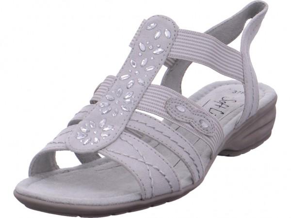 Jana Da.-Sandalette Damen Sandale Sandalette Sommerschuhe grau 8-8-28163-20/101-101